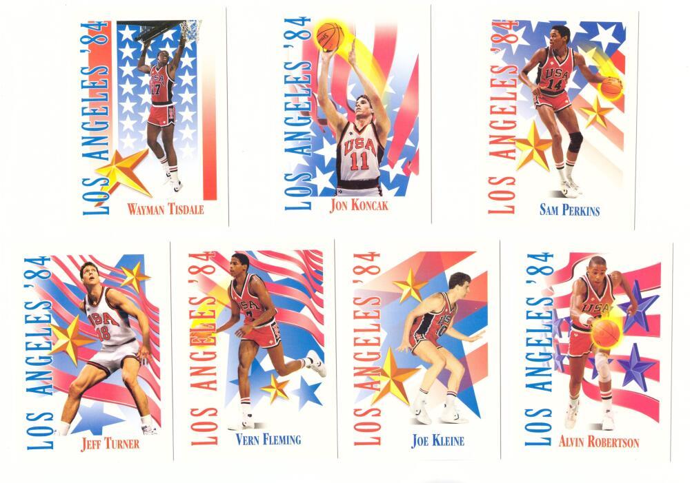 1991-92 SkyBox Basketball - Los Angeles '84 Team USA Set   - 7 cards