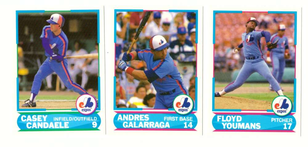 1988 Score Young Superstars 1 & 2 - MONTREAL EXPOS