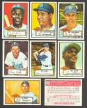 1952 TOPPS Reprints - BROOKLYN DODGERS Team Set