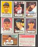 1952 TOPPS Reprints - CINCINNATI REDS Team Set