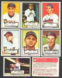1952 TOPPS Reprints - CLEVELAND INDIANS Team Set
