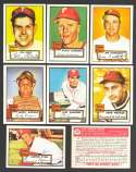 1952 TOPPS Reprints - PHILADELPHIA PHILLIES Team Set