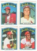 1972 O-Pee-Chee (OPC) - ST LOUIS CARDINALS Team Set  Steve Carlton, Bob Gibson
