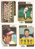 1974 O-Pee-Chee (OPC) - BALTIMORE ORIOLES Team Set w/ Jim Palmer Brooks Robinson
