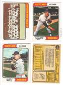 1974 O-Pee-Chee (OPC) - CLEVELAND INDIANS Team Set  w/ Gaylord Perry