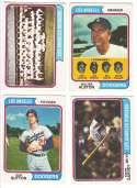 1974 O-Pee-Chee (OPC) - LOS ANGELES DODGERS Team Set
