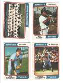 1974 O-Pee-Chee (OPC) - MINNESOTA TWINS Team Set w/ ROD CAREW, Harmon Killebrew