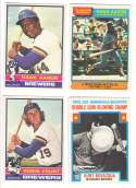 1976 O-Pee-Chee (OPC) - MILWAUKEE BREWERS Team Set w/ 2 HANK AARON