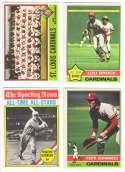 1976 O-Pee-Chee (OPC) - ST LOUIS CARDINALS Team Set -1 w/ Lou Brock, Hornsby