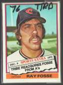 1976 TOPPS TRADED - CLEVELAND INDIANS Team Set