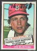 1976 TOPPS TRADED - HOUSTON ASTROS Team Set