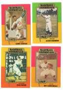 1980-87 SSPC Hall of Fame Baseball Immortals 1-189 - BROOKLYN/LA DODGERS Tm Set