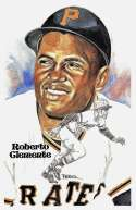 1981 Perez-Steele Hall of Fame Postcard S5 - PITTSBURGH PIRATES ROBERTO CLEMENTE