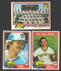 1981 TOPPS - MILWAUKEE BREWERS Team Set
