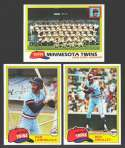1981 TOPPS - MINNESOTA TWINS Team Set