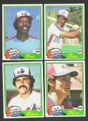 1981 Topps Traded - MONTREAL EXPOS Team Set