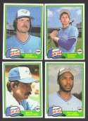 1981 Topps Traded - TORONTO BLUE JAYS Team Set