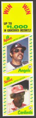 1982 Squirt 2 card Panels - CALIFORNIA ANGELS