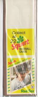 1982 Squirt Panel (w/ Collect all 22) - BOSTON RED SOX