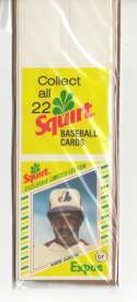 1982 Squirt Panel (w/ Collect all 22) - MONTREAL EXPOS Team Set