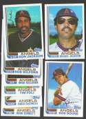 1982 Topps Traded - CALIFORNIA ANGELS Team Set