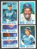 1982 Topps Traded - KANSAS CITY ROYALS Team Set