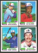 1982 Topps Traded - MONTREAL EXPOS Team Set