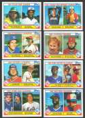 1983 TOPPS - League Leaders subet (8 cards)