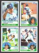 1983 TOPPS - LOS ANGELES DODGERS Team Set