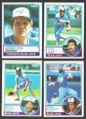 1983 TOPPS - TORONTO BLUE JAYS Team Set