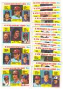 1984 Topps Tiffany Active League Leaders 18 card subset w/ Pete Rose Nolan Ryan+