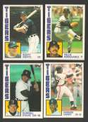 1984 Topps Traded - DETROIT TIGERS Team Set