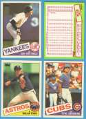 1985 Topps Tiffany - SAN DIEGO PADRES Team Set