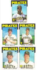 1986 Topps Traded - PITTSBURGH PIRATES Team Set w/ Barry Bonds RC