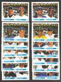 1993 Topps w/ Rockies Inaugural Logo - Managers subset (14 cards)