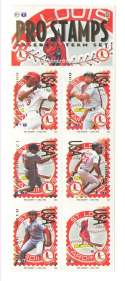 1996 Pro Stamps Strips - ST LOUIS CARDINALS Team Set