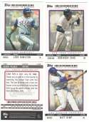 2009 Topps Ticket to Stardom (1-200) - LOS ANGELES DODGERS Team Set