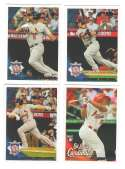 2010 Topps Update - ST LOUIS CARDINALS Team Set