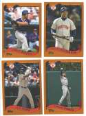 2002 Topps Traded (1-275) - BOSTON RED SOX Team Set