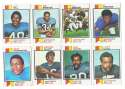 1973 Topps Football Team Set (VG condition) - BUFFALO BILLS   20 Cards