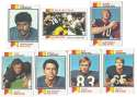 1973 Topps Football Team Set (VG condition) - CHICAGO BEARS   19 Cards
