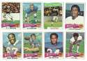 1975 Topps Football Team Set - BUFFALO BILLS