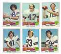 1975 Topps Football Team Set - DALLAS COWBOYS