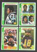 1978 Topps Football Team Set (EX+ Condition) - SAN DIEGO CHARGERS