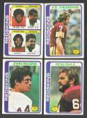1978 Topps Football Team Set (EX+ Condition) - WASHINGTON REDSKINS