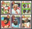 1979 Topps Football Team Set - KANSAS CITY CHIEFS