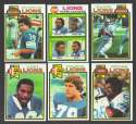 1979 Topps Football Team Set - DETROIT LIONS