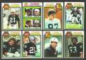 1979 Topps Football Team Set - OAKLAND RAIDERS