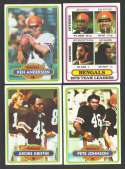 1980 Topps Football Team Set - CINCINNATI BENGALS