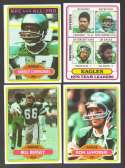 1980 Topps Football Team Set - PHILADELPHIA EAGLES